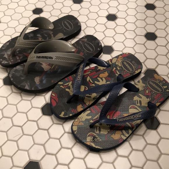 7838eab9a33 Havaianas Other - Boys Havaianas Flip Flops 2Y 31-32 Navy Black Gray